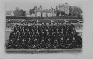 Royal Marine Light Infantry (RMLI) 15th Short Service Squad pictured outside Walmer Castle in 1916 (1)